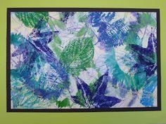 The Calvert Canvas: Adventures in Middle School Art! Lesson Plan 1) crayon rubbing 2) watercolor leaf stencil 3) leaf print