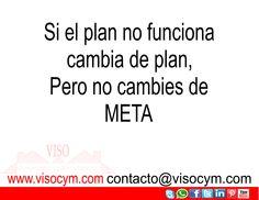 Si el plan no funciona cambia de plan, Poro no cambies de META #visocym