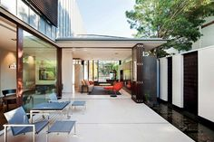 Glenbervie House, by Darren Carnell Architects. Located in a quiet neighbourhood in Melbourne