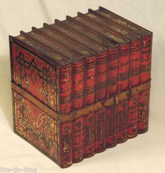 antique huntley and palmer library books tin 1910