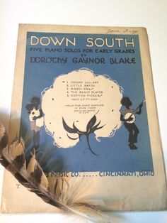 SOLD. #Black #Americana 1928 #Vintage Sheet Music by SoaringHawkVintage, $19.99 #blackamericana #collectible #south #cotton