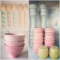 Love These Pastel Home Accessories! Can Find On Etsy.com