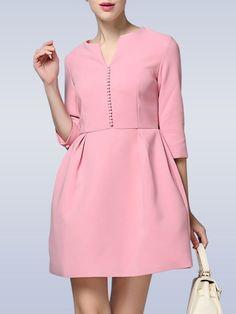 Zipper Cotton-blend Mini Dress