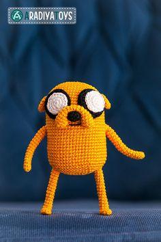 Adventure Time Crochet, Jake Adventure Time, Minion Crochet Patterns, Amigurumi Patterns, Crochet Cross, Cute Crochet, Sock Monster, Softie Pattern, Jake The Dogs