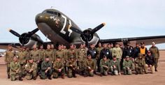Group photo of the World War Two Airborne Demonstration Team after my graduation from jump school