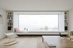 37 New Ideas Apartment Architecture Design Big Windows Modern Interior, Interior Architecture, Interior Design, Minimalist Architecture, Japanese Interior, Minimalist Design, Home And Living, Living Room, Modern Living