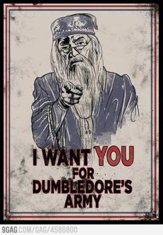 Anyone else going to enlist for Dumbledore's Army?