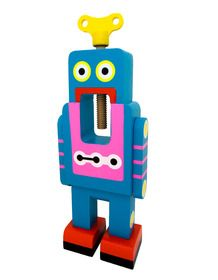 Large Blue Robot Nut Cracker from One Brown Cow