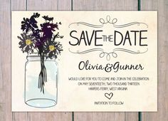 Save the Date - wildflowers