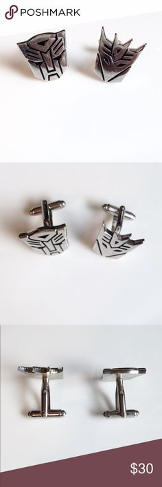 """🆕NWOT•""""TRANSFORMERS"""" StainlessSteel Cufflinks👌🏽 🆕NWOT•""""TRANSFORMERS"""" Stainless Steel Cufflinks👌🏽 One is """"Decepticon"""" & One is """"Autobot"""" • EXCELLENT CONDITION because they are NEW WITHOUT TAGS!!👌🏽 Accessories Cuff Links"""
