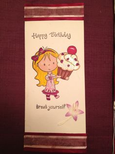 Cute birthday card for little girl