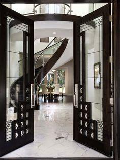 Gatsby Inspired Interiors: Grand Foyer | Spiral Stairs | Glam Design | Great Gatsby | Set Design