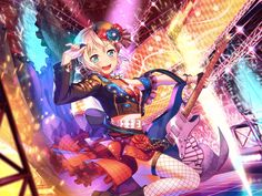 The BanG Dream! Anime Art Girl, Manga Girl, Mike Chan, Japanese Show, Party Characters, Dream Anime, I Love Games, Pastel Palette, Thing 1