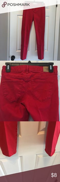 Red pants Red pants. Great condition Abercrombie & Fitch Pants Skinny