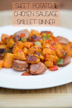 Sweet Potato & Chicken Sausage Hash ~ New 31 Days of Skillet Dinners Recipe! | 5DollarDinners.com