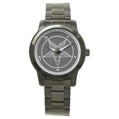 Baphomet Black/White Wrist Watch