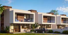 Projeto residencial - Marcia Teixeira Arquitetura Duplex Design, Bungalow House Design, House Front Design, Modern House Design, Villa Design, Townhouse Exterior, Modern Townhouse, Townhouse Designs, Modern House Facades