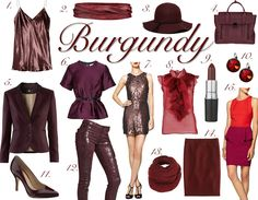 Burgundy : a must have shade ! So full of life