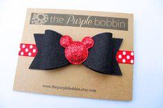 Minnie Mouse Headband-Felt Bow-Baby Headband-Baby Girl-Hair Bow-Birthday Headband-Minnie Birthday The perfect headband for the Minnie Mouse