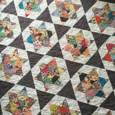 Starlight quilt pattern in Gardenvale fabric - thimbleblossoms
