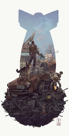 game game videojuegos Cool Art: 'Fallout by AJ Fr Fallout 4 Fan Art, Fallout Concept Art, Fallout Posters, Fallout Quotes, Fallout Funny, Mundo Dos Games, Playstation, Xbox, Drawn Art