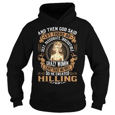 God Created HILLING Women Name Shirts #Hilling