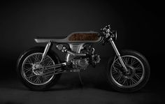 """Based on a Honda Supersport, has designed the """"Bishop"""" motorcycle in limited edition of 9 copies. This motorcycle is entirely custom-made : Bobber Custom, Custom Motorcycles, Custom Bikes, Honda Motorcycles, Vietnam Ho Chi Minh, Moto Cafe, Cafe Bike, Motorcycle Design, Motorcycle Bike"""