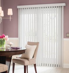 Blindsgalore Vinyl Vertical Blinds Shown In Light Gray Patio Door Doors