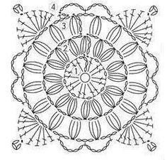 Crochet diagram unit crochet pattern