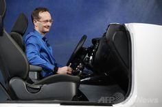 米カリフォルニア(California)州サンフランシスコ(San Francisco)で開催の開発者会議「Google I/O」の基調講演で披露された車載向けプラットホーム「アンドロイド・オート(Android Auto)」(2014年6月25日撮影)。(c)AFP/Getty Images/Stephen Lam ▼26Jun2014AFP|グーグルのアンドロイド、時計・車・テレビに進出 http://www.afpbb.com/articles/-/3018839 #Android_Auto