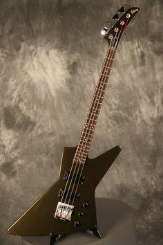 Gibson Explorer Bass 1986 Army Green (SOLD) #gibson #explorer #bass #olive #drab #military #green #army #1986 #rosewood #vintage #marcokrasinski #rigrundown
