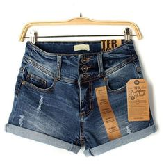 women sexy high waist denim shorts