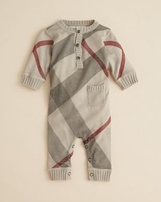 Burberry Infant Boys' Knit Coverall - Sizes 3-18 Months - Kids - Bloomingdale's