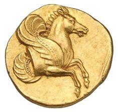 Statere - oro - Lampsakos, Misia (Turchia) (350-340 a.C.) - protome di Pegaso in volo vs.dx. - Münzkabinett Berlin