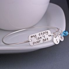 My Story Isn't Over Yet Bracelet - Silver – georgie designs personalized jewelry
