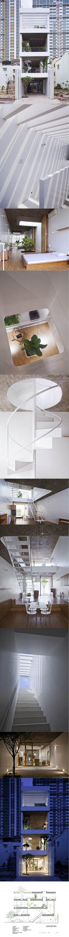 2009 Sanuki + Nishizawa - Anh House / Ho-Chi-Min City - Vietnam / white / wood concrete / minimalism / Japan