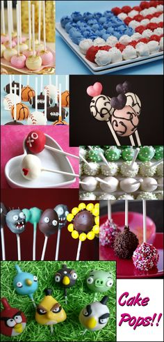 Holiday Cake Pops, Angry Birds Cake Pops & More Ideas! http://www.studiox3.com/cake-pop-decorating-ideas/