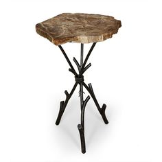 Petrified Wood Table | dotandbo.com