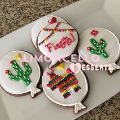 ¡Viva México!❤️ #tasty #delicious #yummy #chocolate #orange #cookies #bakedwithlove #balloons #cactus #pinata #hat #fiesta #revolucionmexicana