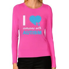 Autism Awareness - I Love Someone With Autism Women Long Sleeve T-Shirt Large Pink Autism awareness apparel. Premium quality, long sleeve women's t-shirt. 100% combed-cotton (preshrunk,) machine washable. Available in a wide variety ...  #Autism #AutismAwareness #AutismHour #AutismInMyLife #AutismParents #AutismTMI #Autistic #Awareness #Large #Long #Love #Pink #Sleeve #TShirt #Women