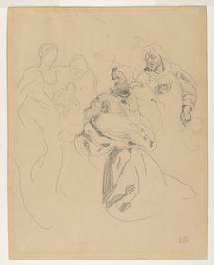 Eugène Delacroix | Adoration of the Magi, after Rubens' 'Adoration of the Magi' | The Met