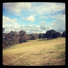 The new disc golf course in Daphne (Lake Forest) is only 9 baskets but hilly. It kicked my butt. #discgolf #DaphneAL #Daphne #lakeforest #sundayfunday #exercise #hiking #frisbeegolf #clouds #landscape