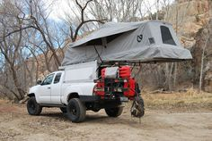 RV And Camping. Great Ideas To Think About Before Your Camping Trip. For many, camping provides a relaxing way to reconnect with the natural world. If camping is something that you want to do, then you need to have some idea Truck Canopy Camping, Truck Bed Tent, Camping Hammock, Kayak Camping, Camping Ideas, Camping Hacks, Overland Tacoma, Overland Truck, New Tacoma
