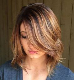Angled Layers for Medium Length Hair