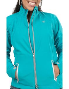 Ariat Women's Turquoise Soft Shell Bonded Jacket | Cavender's