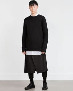 SEAMED SWEATSHIRT-Dark Collection-MAN | ZARA United States