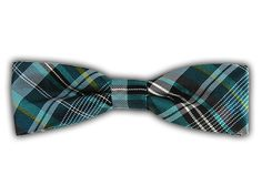 Zenith Plaid - Teal (Slim Bow Ties)