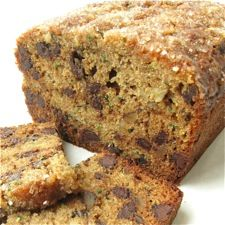 100% Whole Wheat Zucchini Chocolate Chip Bread – an easy quick bread, packed with shredded zucchini and chocolate chips.