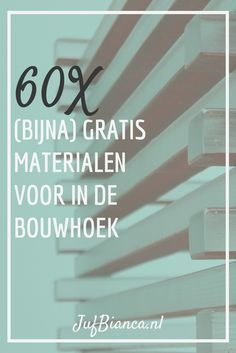 We zoeken allemaal naar inspiratie op Pinterest om onze hoeken mooi in te richten met rijke materialen. Maar niet iedereen heeft budget om die materialen aan te Bob The Builder, Job Work, Civil Engineering, The Unit, Teacher, Learning, Kids, Exploring, Young Children