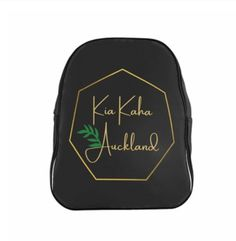 New Zealand Vibes in this Black and gold Kia Kaha backpack! Perfect for University, schools or office peeps alike!!